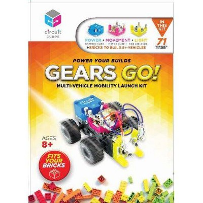Circuit Cubes Gears GO! Multi-Vehicle Mobility Launch Kit - Engineering STEM Kit for Children and Adults