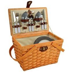 Picnic at Ascot Frisco Traditional American Style Picnic Basket with Service for 2