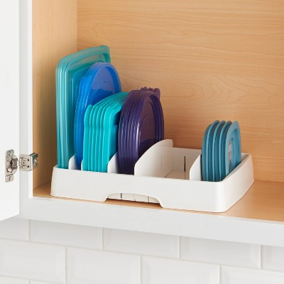 YouCopia Food Storage Container Lid Organizer