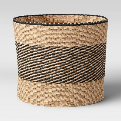 "Round Seagrass Basket Striped 12"" x 14"" Natural/Black - Project 62™"