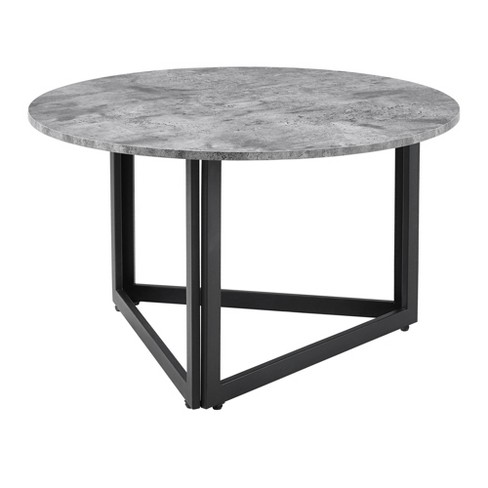 Modern Metal Base Round Coffee Table Saracina Home Target
