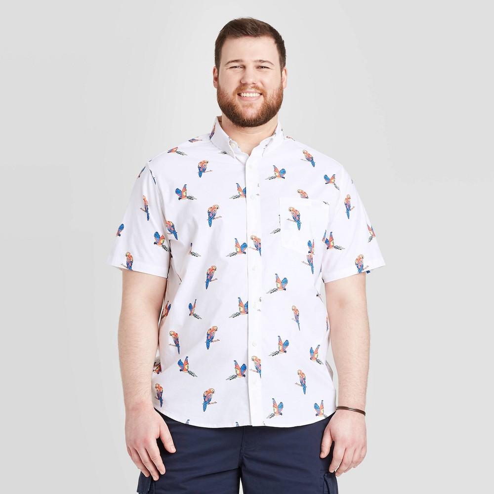 Men's Tall Standard Fit Short Sleeve Button-Down Shirt - Goodfellow & Co Light Cream MT, Light Ivory was $19.99 now $12.0 (40.0% off)