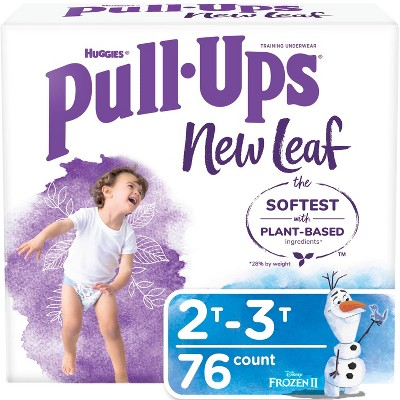 Huggies Pull Ups New Leaf Boys' Training Pants - Size 2T-3T - 76ct