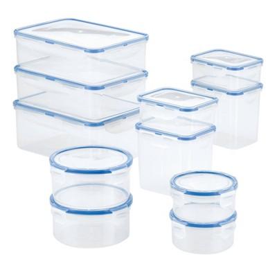 LocknLock Easy Essentials Assorted Food Storage Container Set - 22pc