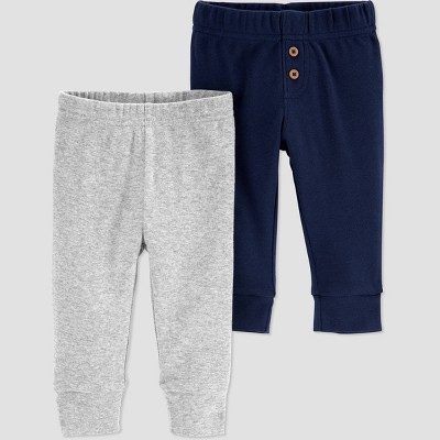 Baby Boys' 2pk Pull-On Pants - Just One You® made by carter's Navy/Gray 9M
