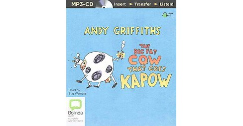 Big Fat Cow That Goes Kapow (Unabridged) (MP3-CD) (Andy Griffiths) - image 1 of 1