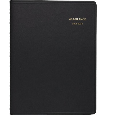 """AT-A-GLANCE 2021-2022 8.25"""" x 11""""Academic Planner Black 70-957-05-22"""
