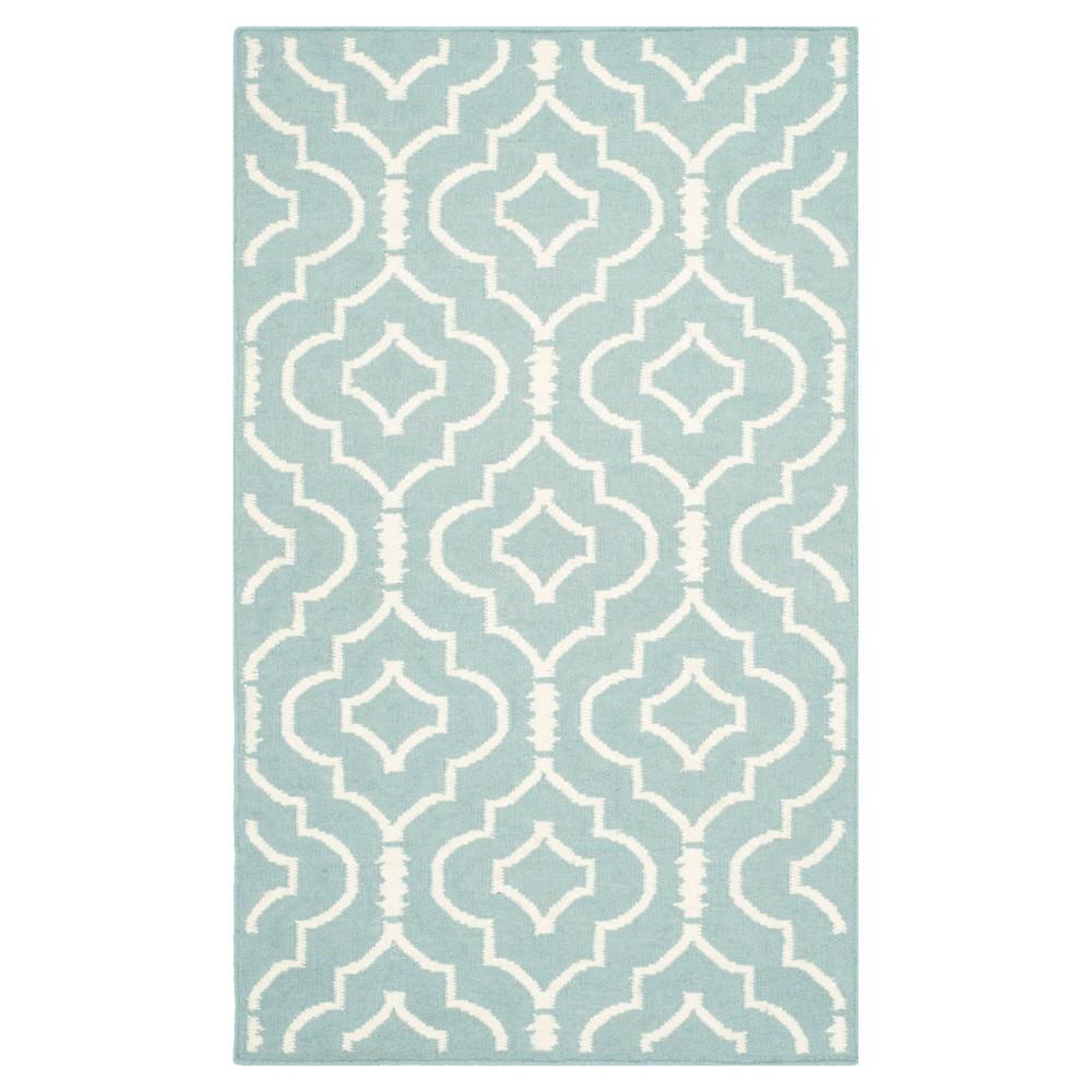 Discounts Dhurries Rug - Light Blue Ivory - (3x5) - Safavieh