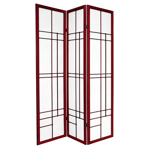 6 ft. Tall Eudes Shoji Screen - Rosewood (3 Panels) - image 1 of 1