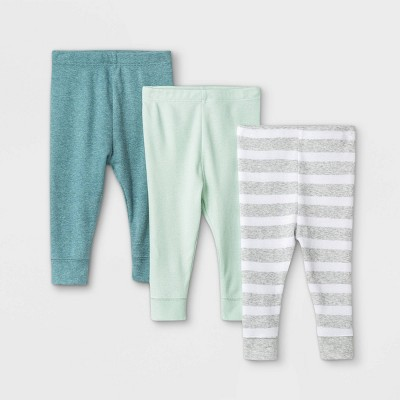 Baby Boys' 3pk Pull-On Pants - Cloud Island™ Mint 0-3M