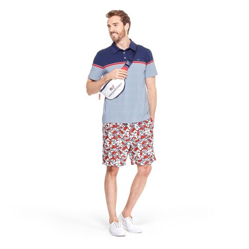 dc795795b5 Men's Striped Short Sleeve Polo Shirt - Navy/Red - vineyard vines® for  Target
