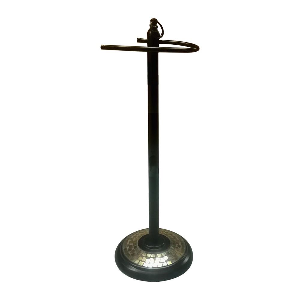 Image of Freestanding Toilet Tissue Holder Bronze - Nu Steel