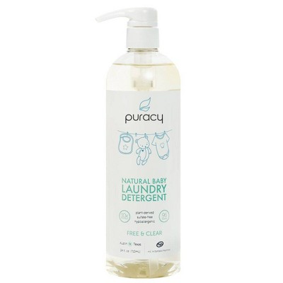 Puracy Natural Baby Liquid Laundry Detergent, Plant-Based for Sensitive Skin, Free & Clear - 24oz