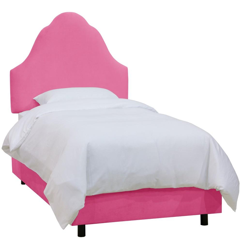 Queen Kids Arched Microfiber Bed Premier Hot Pink - Skyline Furniture