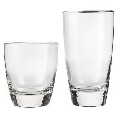Sherbrook Classic Glass Drinkware Set of 12 Clear (13oz -16oz)- Threshold™