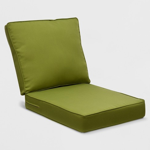 Belmont 2pc Outdoor Wicker Seat Back Club Chair Loveseat Sectional Replacement Cushion Set Green Grand Basket
