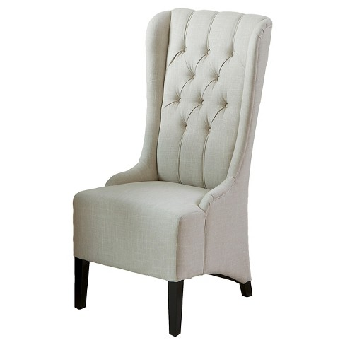 Champion Tufted Fabric Dining Chair Wood/Light Beige - Christopher Knight Home - image 1 of 4