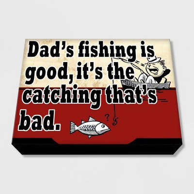 "11"" x 14""Dad's Fishing Is Good Decorative Wall Art - PTM Images"