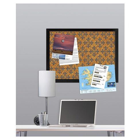 Wall Pops Cork Bulletin Board Black Frame 17 X 23 Fleur De