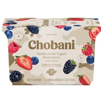 Chobani Mixed Berry on the Bottom Nonfat Greek Yogurt - 4ct/5.3oz Cups