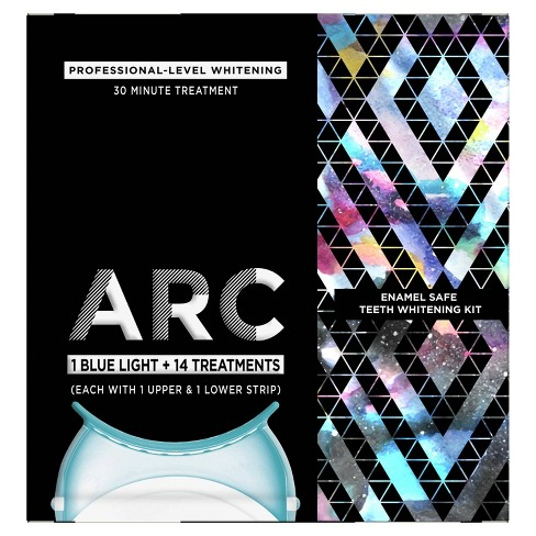 ARC Blue Light Teeth Whitening Kit with Hydrogen Peroxide & 1  Blue Light - 14 Treatments - image 1 of 4