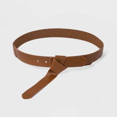 Women's Wrap Stretch Belt - Universal Thread™ Cognac