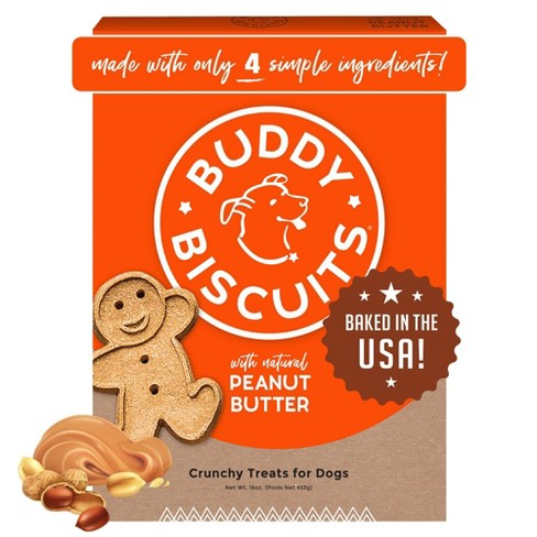 Buddy Biscuits Oven-Baked Crunchy Treats with Peanut Butter - 16oz - image 1 of 4