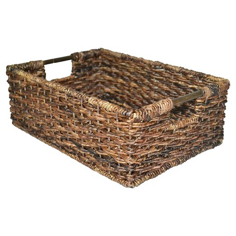 "6""x12"" Wicker Folio Bin - Dark Global Brown - Threshold™ - image 1 of 5"