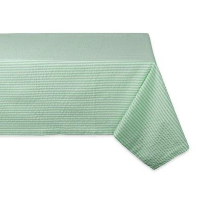 "84""X60"" Seersucker Tablecloth Green - Design Imports"