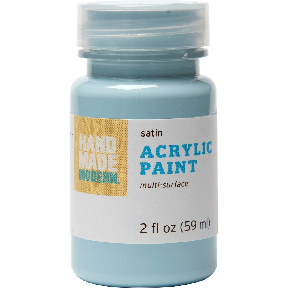 Satin Acrylic Craft Paint (2oz) Gulf Stream Blue - Hand Made Modern
