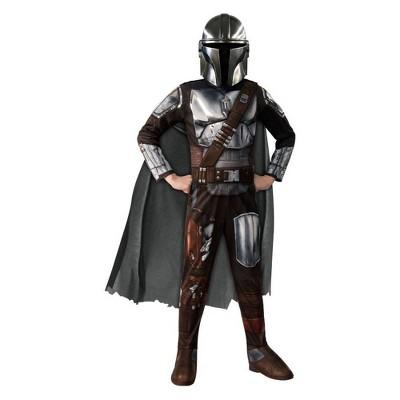 Kids' Star Wars Mandalorian Halloween Costume Jumpsuit with Mask