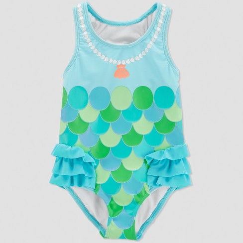 d5dc2f2be Toddler Girls' Mermaid One Piece Swimsuit - Just One You® made by carter's  Turquoise