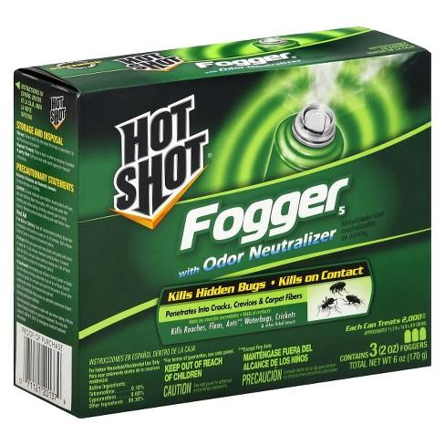 Hot Shot Fogger With Odor Neutralizer - 3ct/2oz