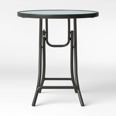 Folding Patio Accent Table Clear - Room Essentials™