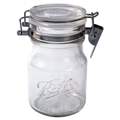Ball 14oz Sure Seal Glass Mason Jar with Wire Bail Lid