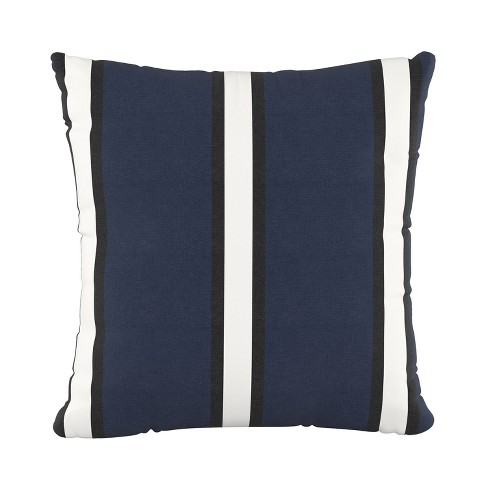 Dress Stripe Square Throw Pillow Blue - Cloth & Co. - image 1 of 4