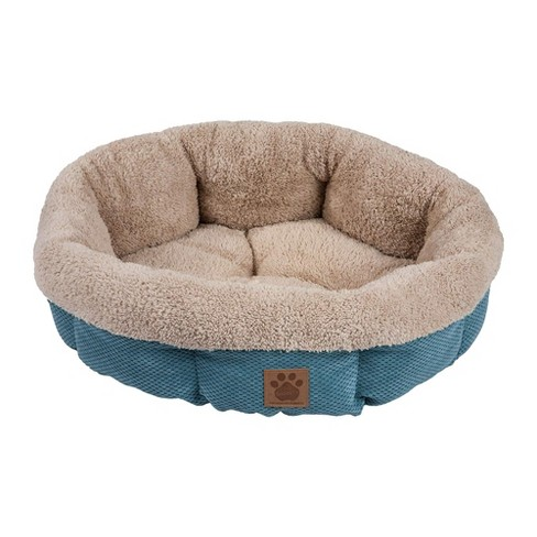 Petmate Precision Pet SnooZZy Mod Chic Stylish Round Cuddler Pet Dog Bed, Teal - image 1 of 1