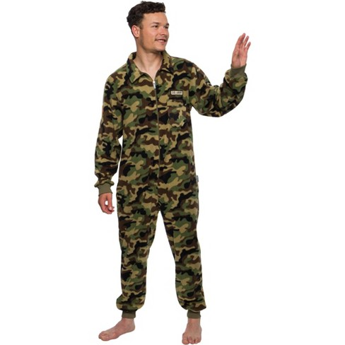 FUNZIEZ! - Military Soldier Camo Slim Fit Adult Unisex Novelty Union Suit - image 1 of 4