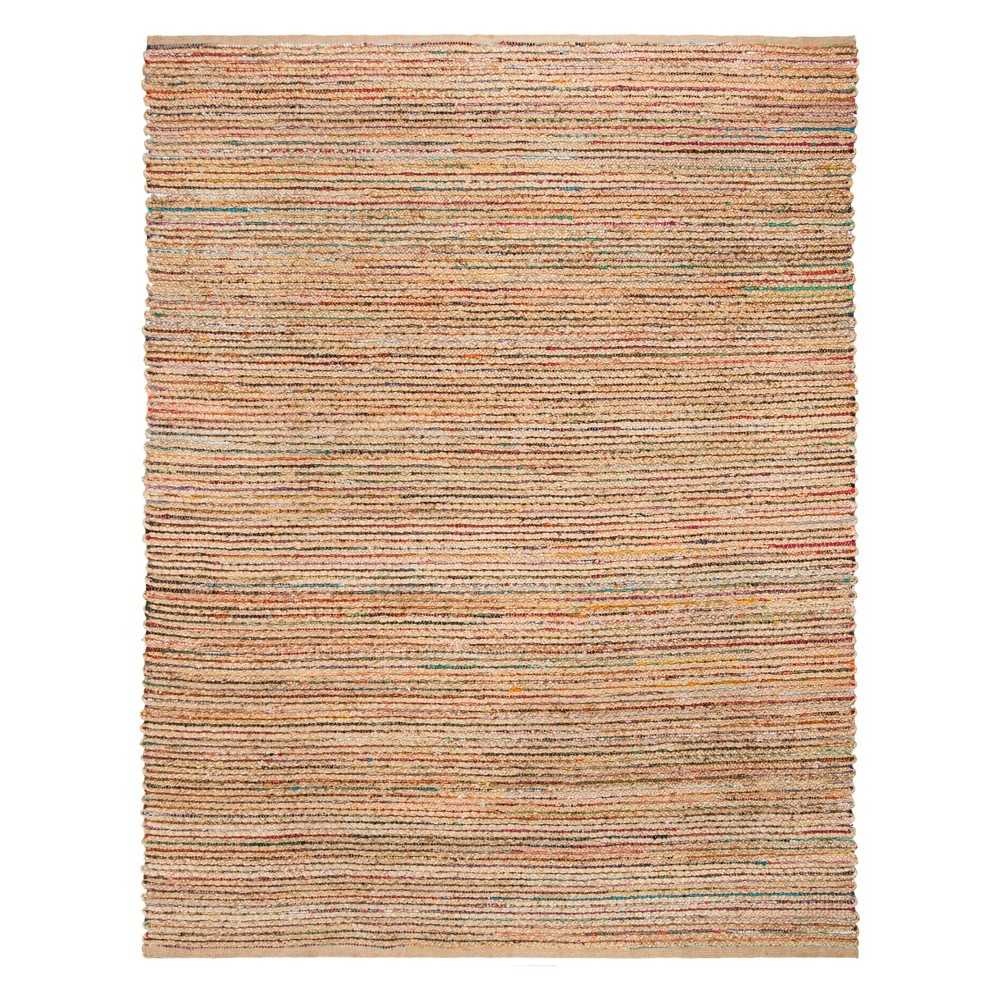 8'X10' Solid Woven Area Rug Natural - Safavieh, Natural/Multi-Colored
