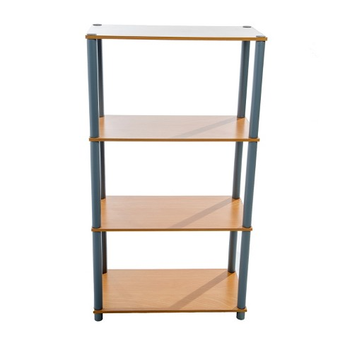 hot sales a51fb ab10c 4 Tier Shelf Rack Brown/Gray - Home Source Industries