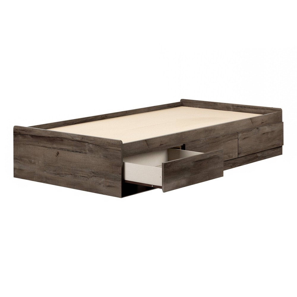 Twin Vinbardi Mates Bed with 3 Drawers Fall Oak - South Shore