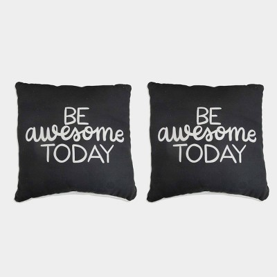 "2ct ""Be Awesome Today"" Pillows - Bullseye's Playground™"