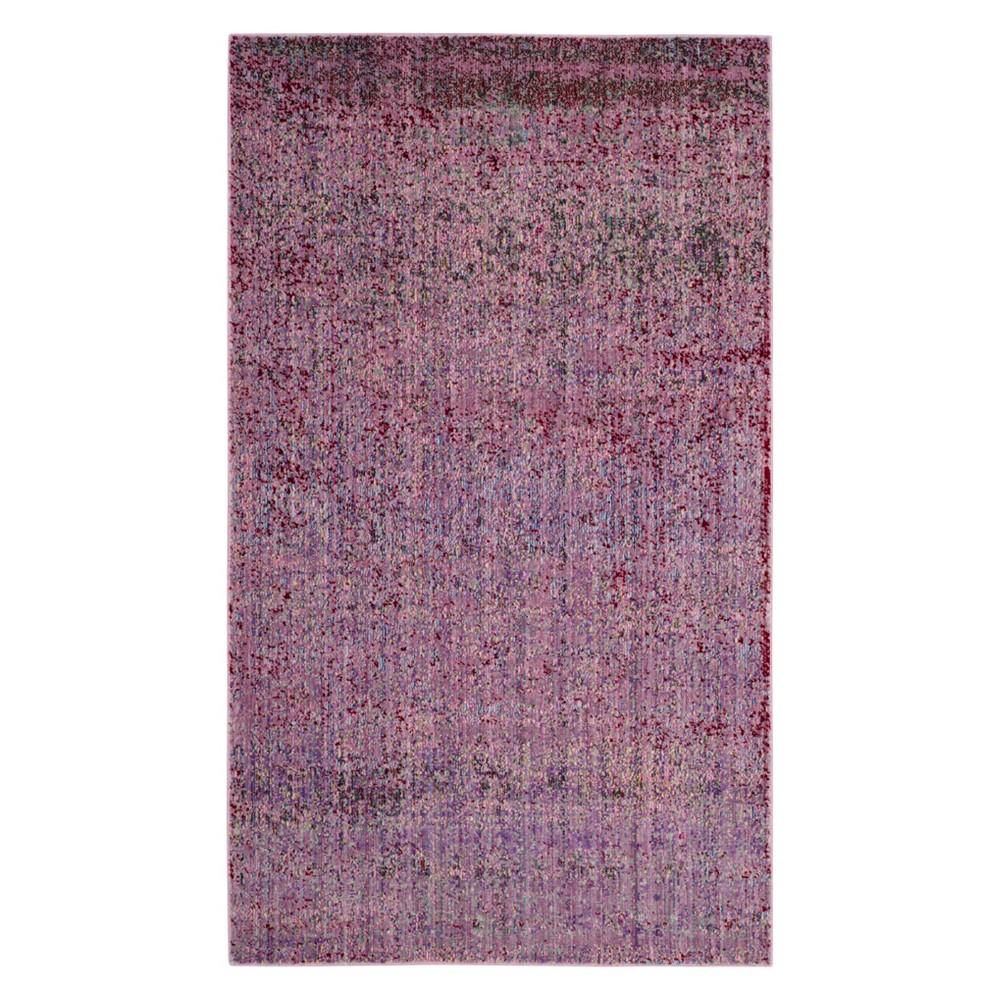 2'X3' Solid Loomed Accent Rug Lavender - Safavieh, Lavander/Multi-Colored
