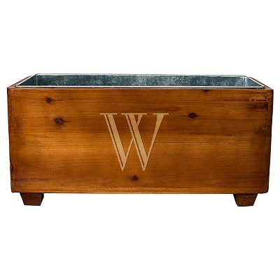 Cathy's Concepts Personalized Wooden Wine Trough - W