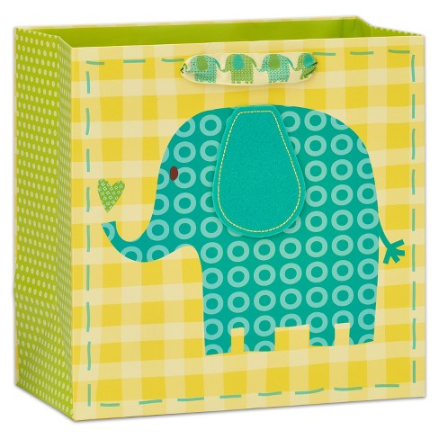 88754811f Papyrus Elephant And Heart Large Gift Bag : Target