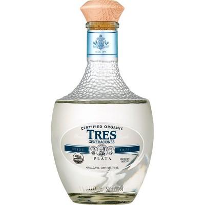Tres Generaciones Organic Plata Tequila - 750ml Bottle