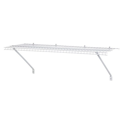 "ClosetMaid 36"" Wall-Mounted Wire Utility Shelf - White - image 1 of 3"