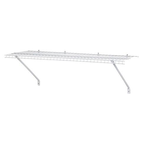 "ClosetMaid 36"" Wall-Mounted Wire Utility Shelf - White - image 1 of 3"