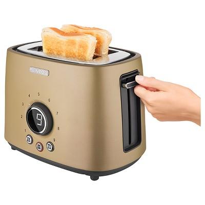 Sencor Metallic 2 Slice Toaster - Champagne