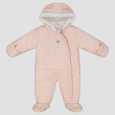 Baby Girls' Dotted Pram Snowsuit - Just One You® made by carter's Pink 6M